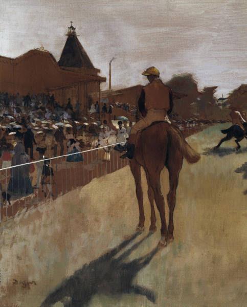 Edgar Degas - E.Degas / Racehorses at the grandstand