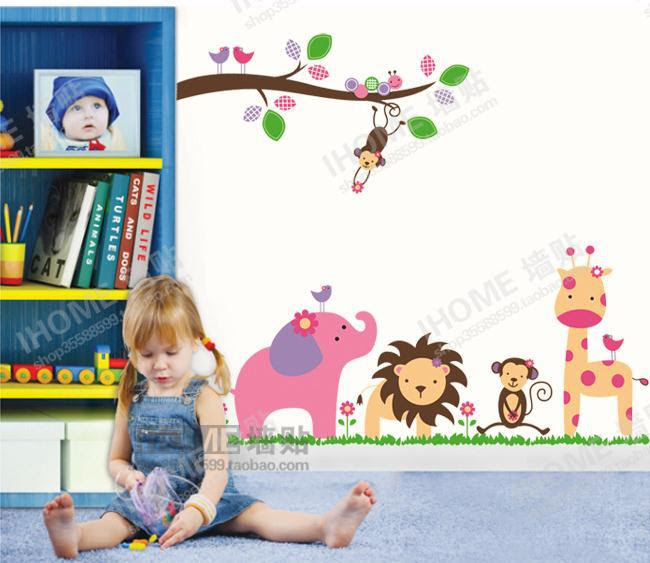 Wholesale Forest party Home room Decor Removable Wall Sticker ...