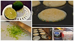 tuscan lime cupcakes collage