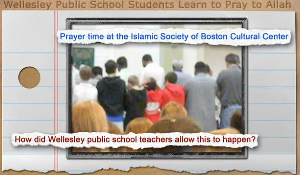 In Wellesley, MA, a class field trip to a mosque had students reciting Muslim prayers