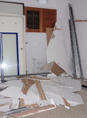 demolition, bedroom