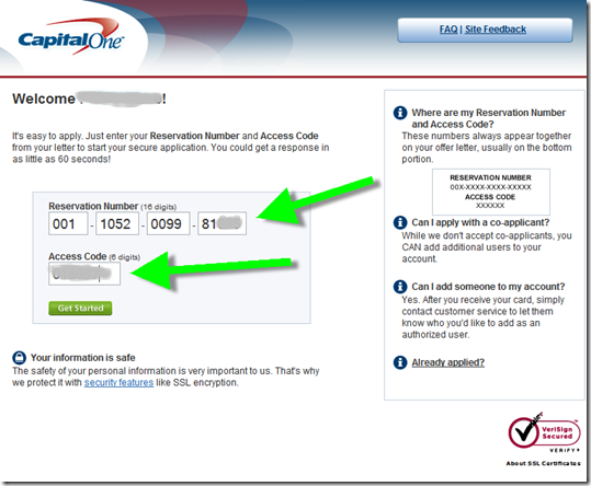Capital One Encourages Online Applications in Direct Mail for