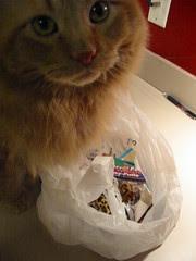 Jasper's bag of birthday toys