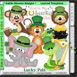 Lucky Pals Layered Templates - CU