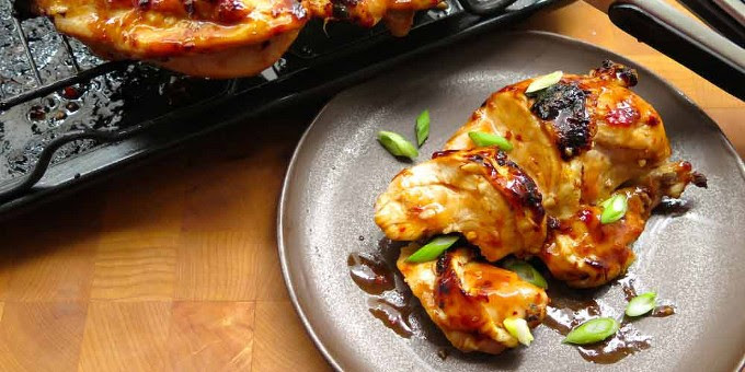 Broiled Chicken Breast with Sweet Chili Glaze
