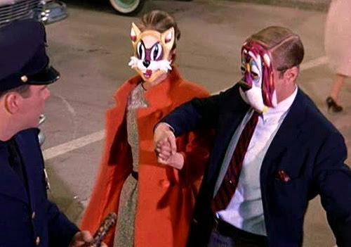 Audrey Hepburn wearing mask