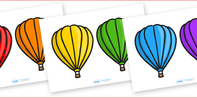 Editable Self Registration Labels (Hot Air Balloons) - Self