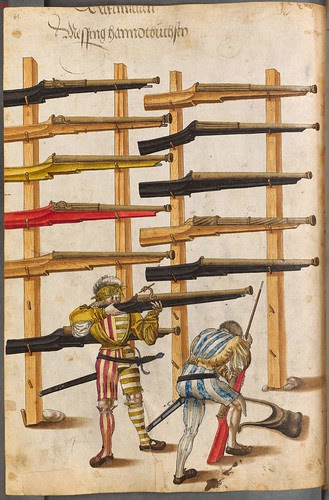 Landsknechts and hand held cannons or early rifles