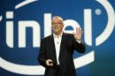Otellini, president and CEO of Intel Corporation, arrives to give a keynote address during the CES in Las Vegas