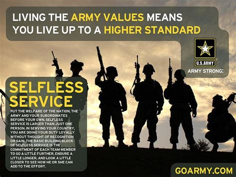 Selfless Service Quotes Army
