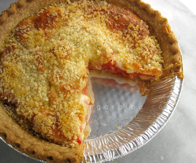 tomato pie with panko