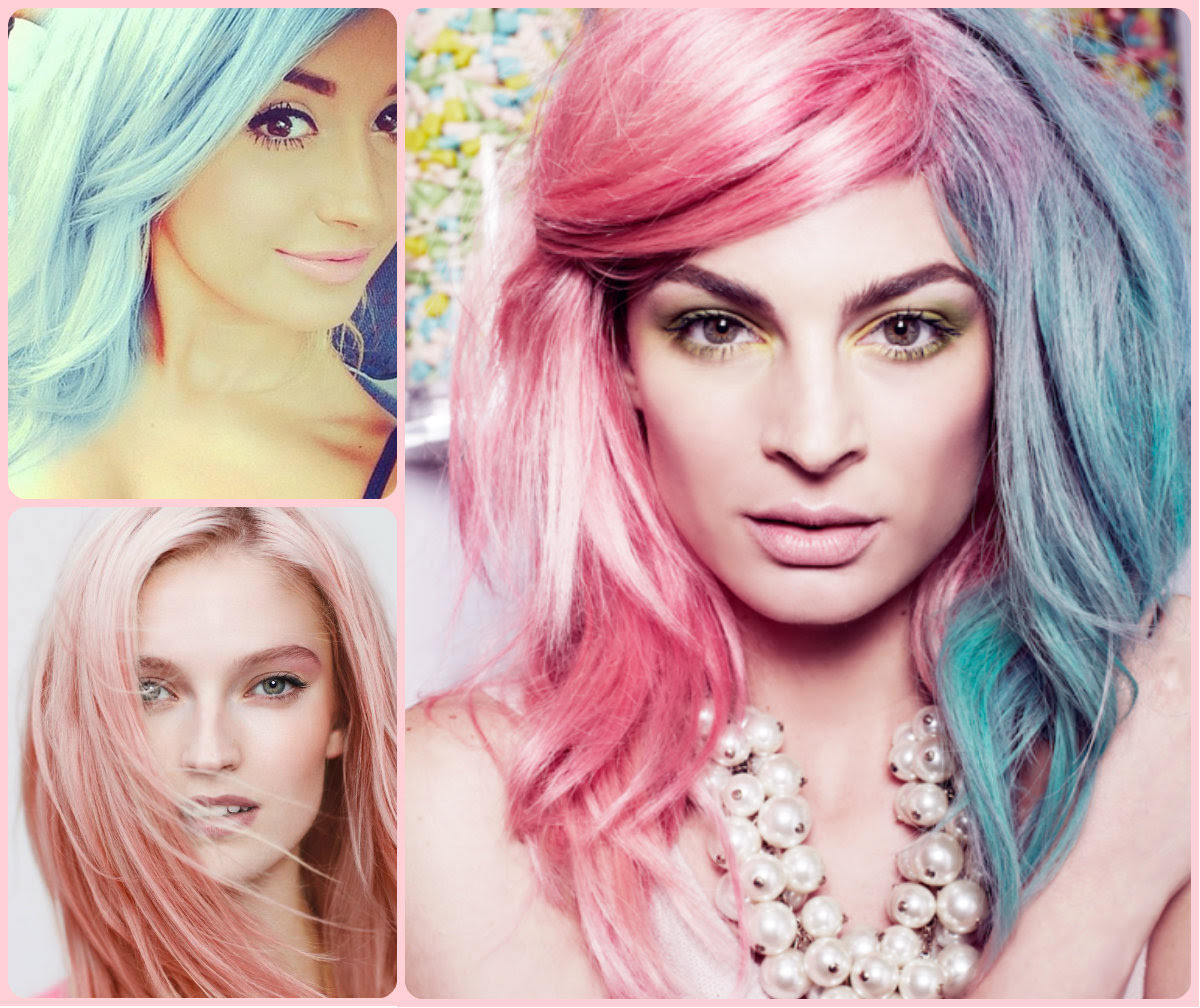 Crazy Pastel Hair Colors 2015 Summer Long Hairstyles
