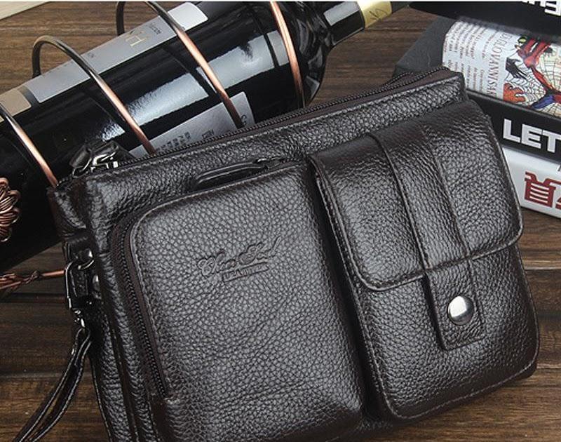58db234ef15d Купить Натуральная кожа маленькие сумки мессенджеры для мужчин сумка через плечо  мужская сумка клатч телефона поясная мужской кошелек к.