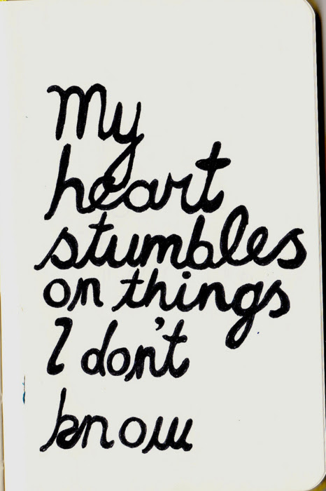 My Heart Stumbles On Things I Dont Know Unknown Picture Quotes