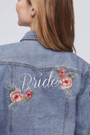 Embroidered Bride Denim Jacket   David's Bridal
