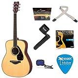 Yamaha FG720S Natural Finish Acoustic Guitar + Guitar String Winder, 2 inch Polypropylene Guitar Strap, Ukulele Tuner...