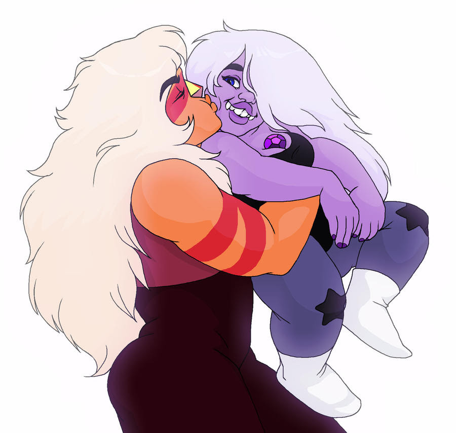 i decided to color one of a huge dump of old doodles that i'll probably never finish ~ Jasper and Amethyst © Rebecca Sugar
