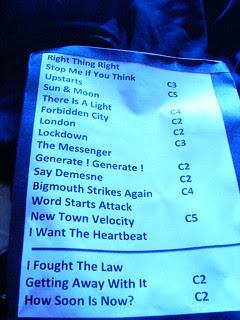 Johnny Marr setlist