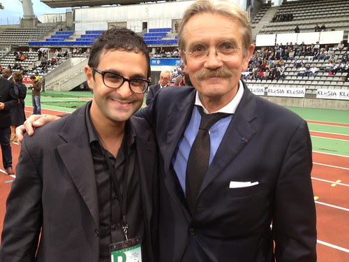 Frédéric Thiriez (Président de la Ligue de football professionnel) et Arash Derambarsh (dirigeant club de football de Courbevoie) by Arash Derambarsh