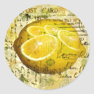 Postcard Lemons Sticker sticker