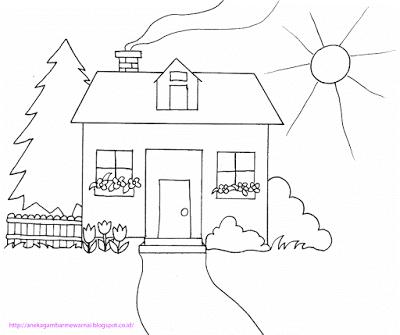 Menggambar Mewarnai Rumah