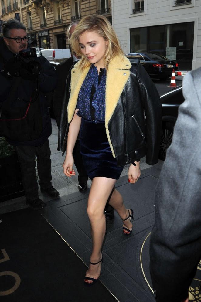 Chloe Moretz in Mini Skirt -05