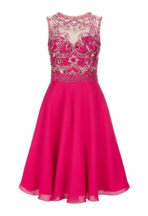 Dynasty Anna Hot Pink and Gold Dress