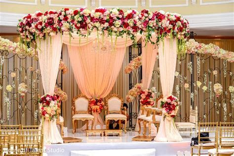Indian wedding ceremony stage ideas   Wedding decorations