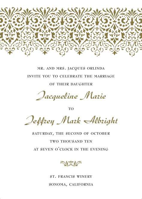 formal wedding invitation wording fotolipcom rich image