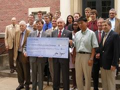 NRC Chairman Klein Presents Grant Money to Uni...
