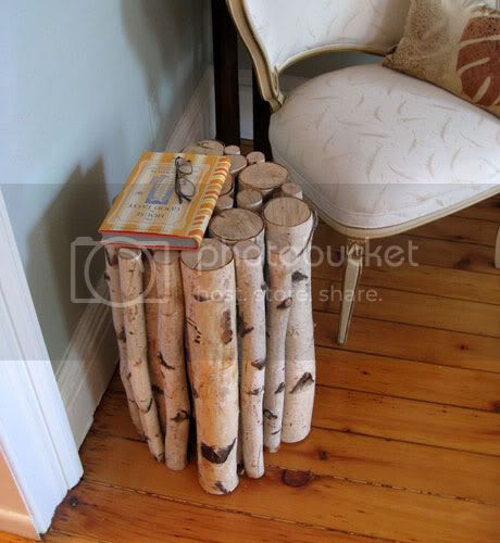 Birch Tree Log Table