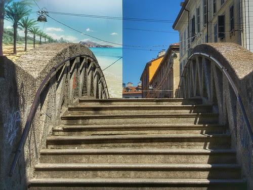 Il ponte tra metà Milano e metà Mare by Ylbert Durishti