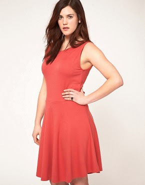 Image 2 ofASOS CURVE Exclusive Skater Dress with Bow Back