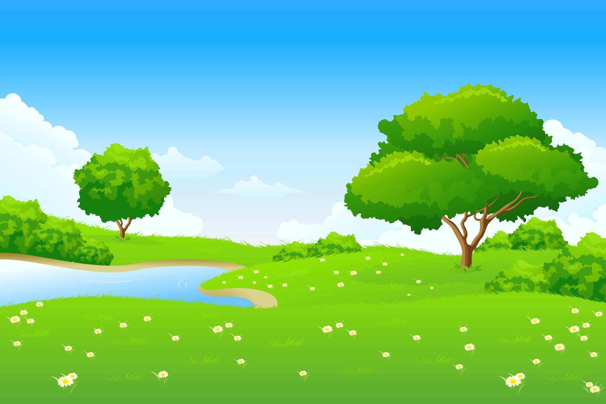 Background Pemandangan Animasi - Gambar Viral HD