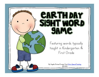 Earth Day Sight Word Game Freebie!