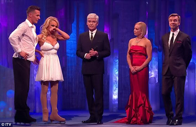 Sad: Pamela didn't feel too confident about her chances after stumbling during the routine
