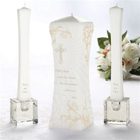 Our Christian Unity Candle Set is perfect for a religious