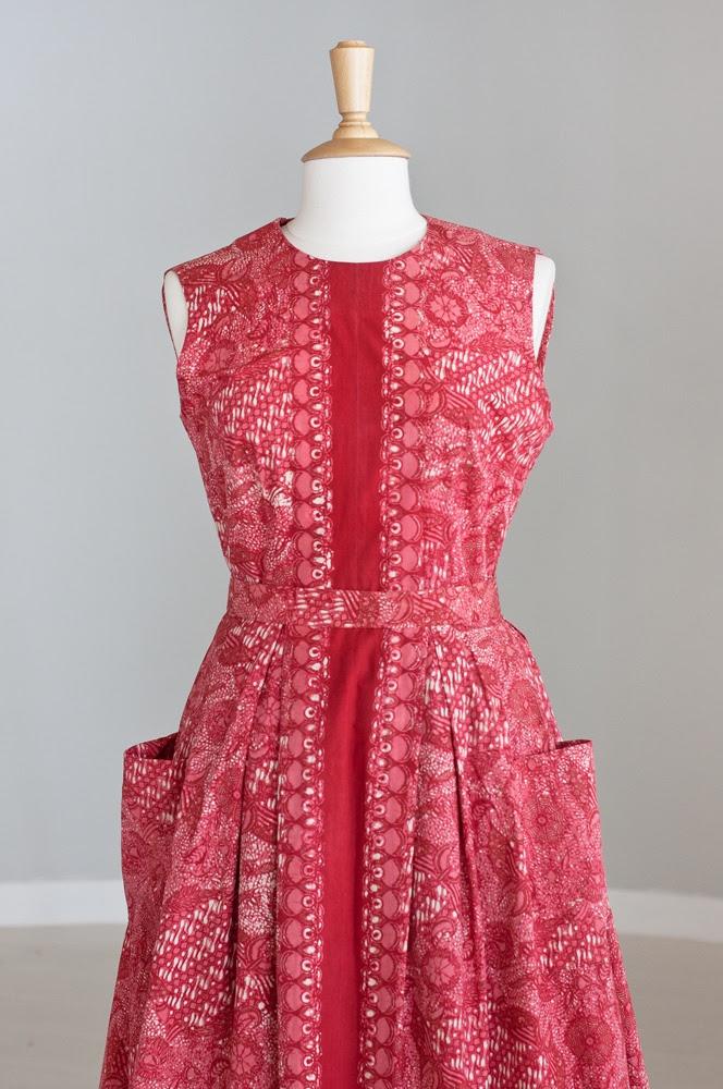 Belted batik dress  Indonesia Style Pinterest