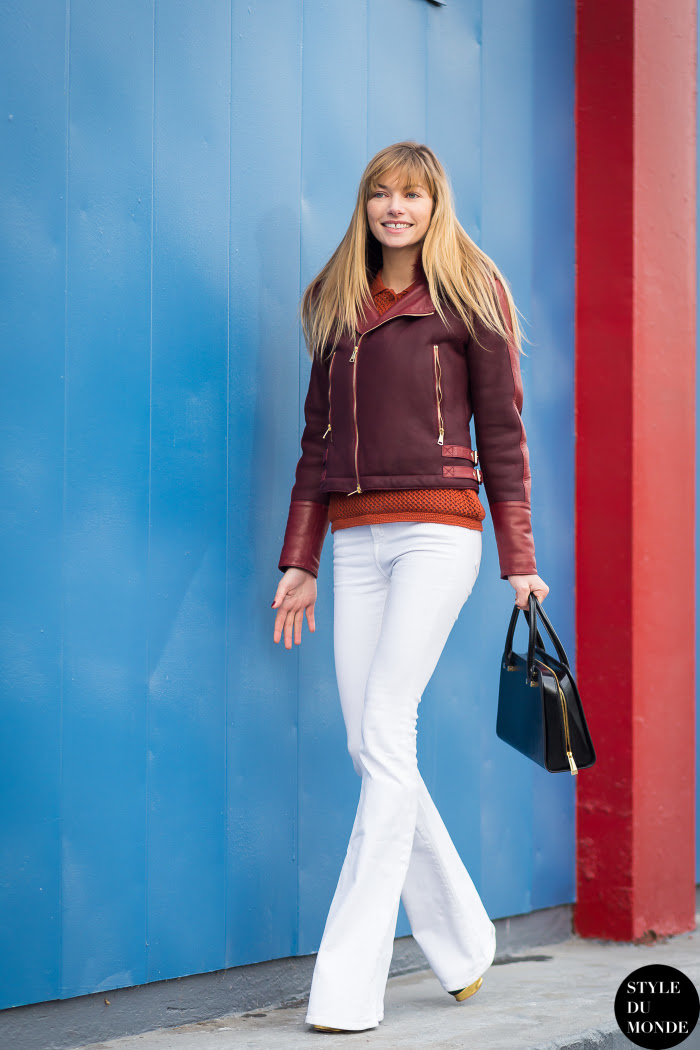 Jessica Hart Street Style Street Fashion Streetsnaps by STYLEDUMONDE Street Style Fashion Blog