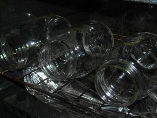 Heating Lard Canning Jars in Oven