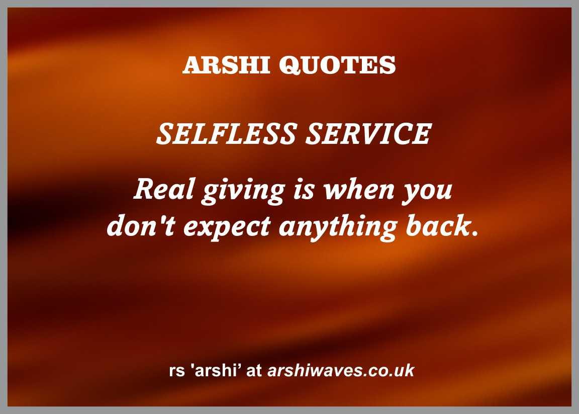 Selfless Service Arshi Waves