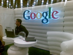 Google booth at web20expo