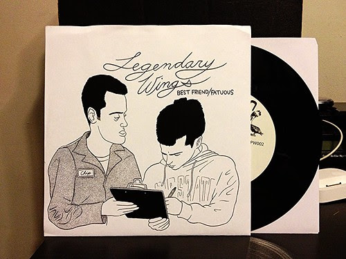 "Legendary Wings / Buck Biloxi - Split 7"" by Tim PopKid"