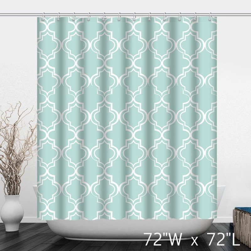 Retro Europe Pattern Print Bathroom Shower Curtain Custom Shower