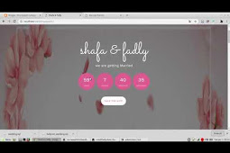 Free Download Web Wedding Invitation sederhana bersifat Dinamis menggunakan Laravel 5