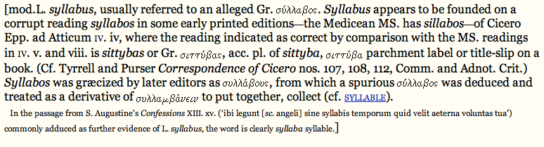 Language Log Whats The Plural Of Syllabus