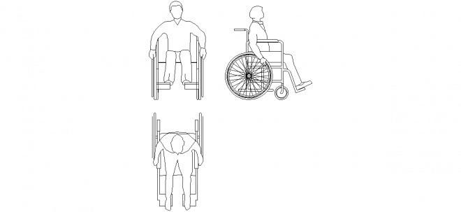 Tekerlekli Sandalyeli Adam çizimi Tekerlekli Sandalyeli Adam Tefrişi