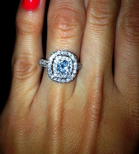 68 best Cushion cut engagement rings images on Pinterest