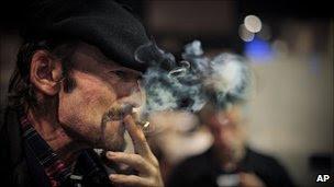 Smoker in Pamplona, Spain