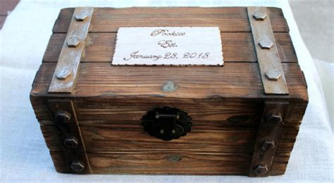 Personalized Card Box Trunk Wine Love Letter Ceremony